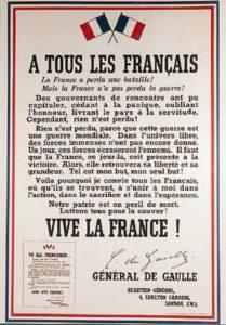 80ème anniversaire de l'appel du 18 juin 1940 du Général De Gaulle.